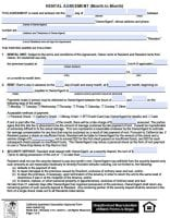 California Month To Month Rental Agreement Pdf Template