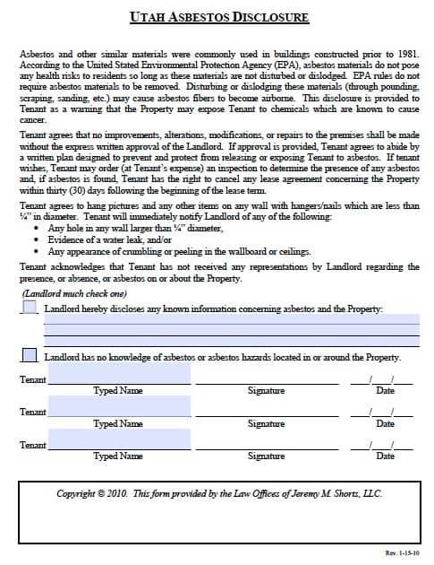 house lease form