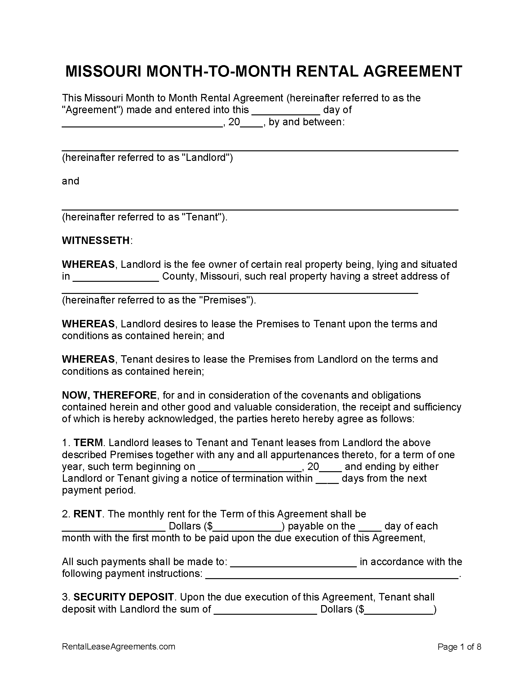 Month To Month Lease Termination Letter To Tenant from rentalleaseagreements.com