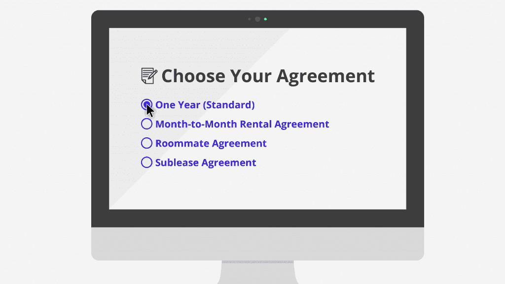 Step 2 U2013 Choose Your Agreement  Blank Lease Agreement